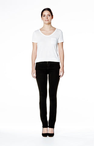 Sky Rise Slim Jean Long - Overdye Black