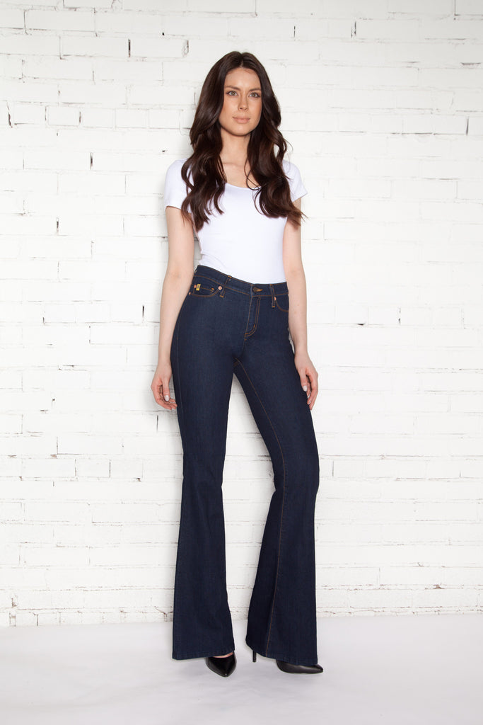 High Rise Flare Jean Long - Rinse Indigo