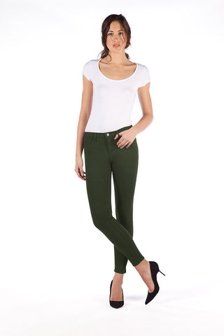 High Rise Skinny Ankle Jean - Evergreen
