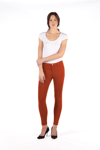 High Rise Skinny Ankle Jean - Scarlet