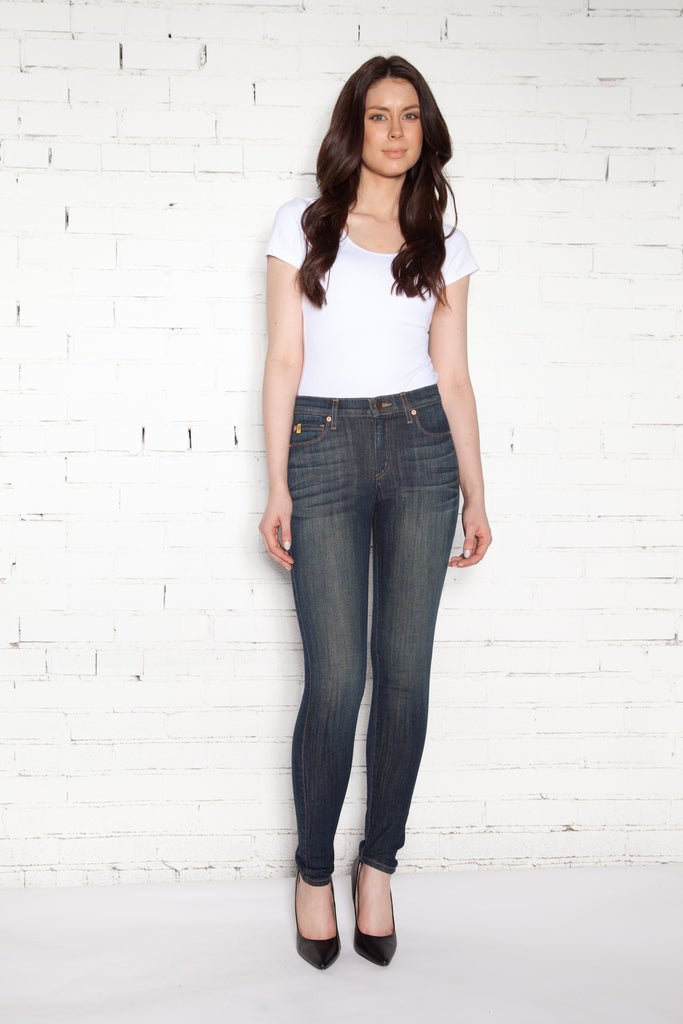 High Rise Skinny Ankle Jean - Italy
