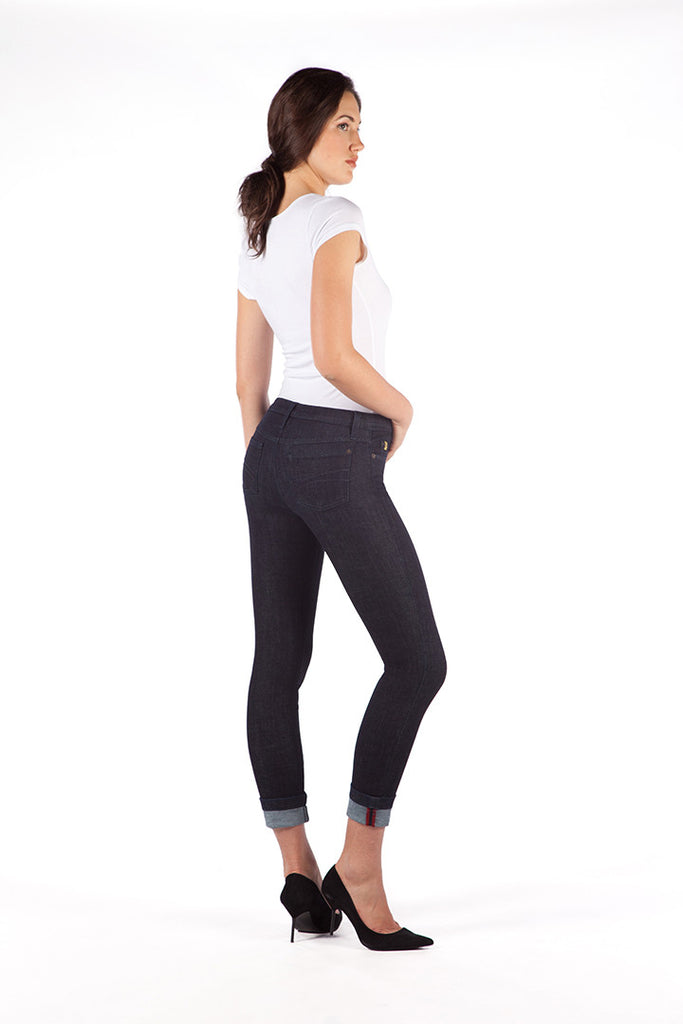 High Rise Skinny Ankle Jean with cuff - Vegas