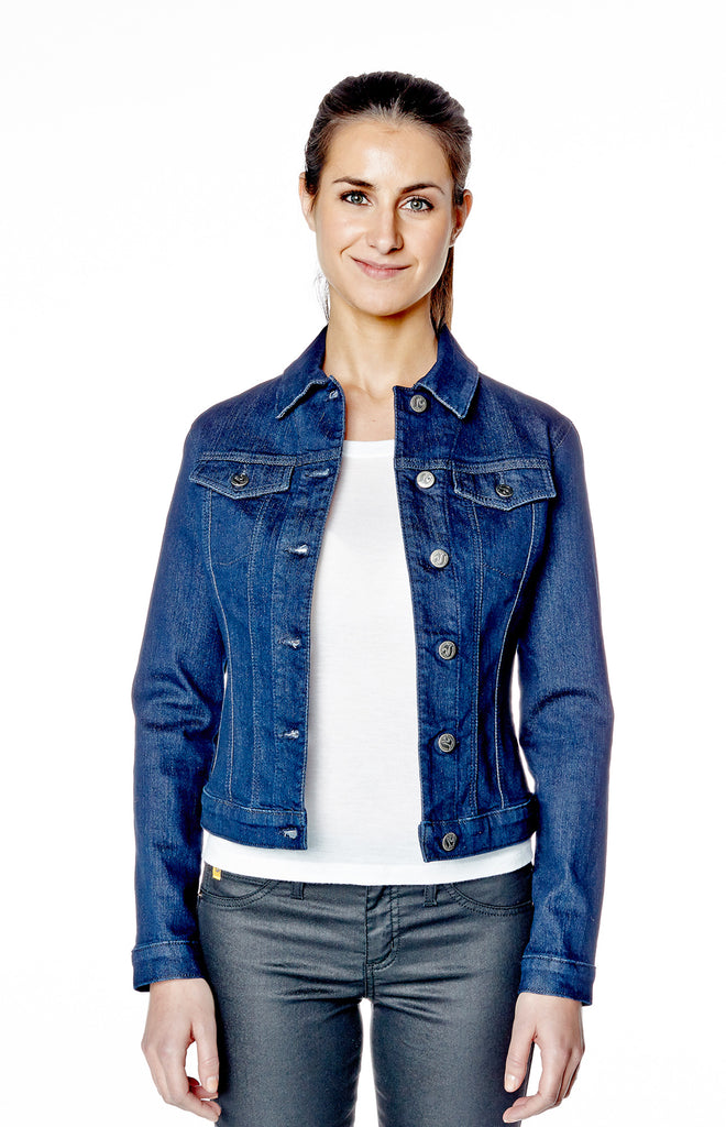 Classic cut Denim Jacket in Rinse Indigo