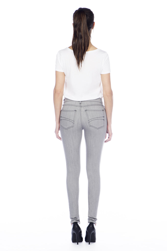 High Rise Skinny Ankle Jean - Cloud
