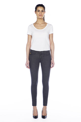 High Rise Skinny Ankle Jean - Smoke