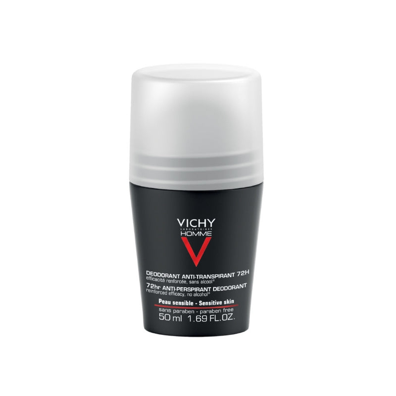 Vichy Homme Deodorant Antiperspirant For Men 72 Hours Roll-on 1.7 fl oz