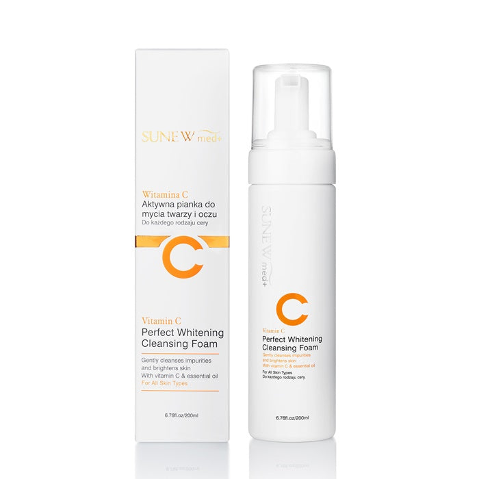SUNEW Med Whitening Cleansing Foam with Vitamin C 6.7 fl oz