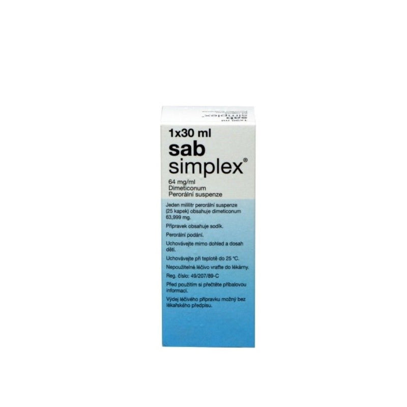 Sab Simplex drops for bloating, excess gases, colic 1 fl oz