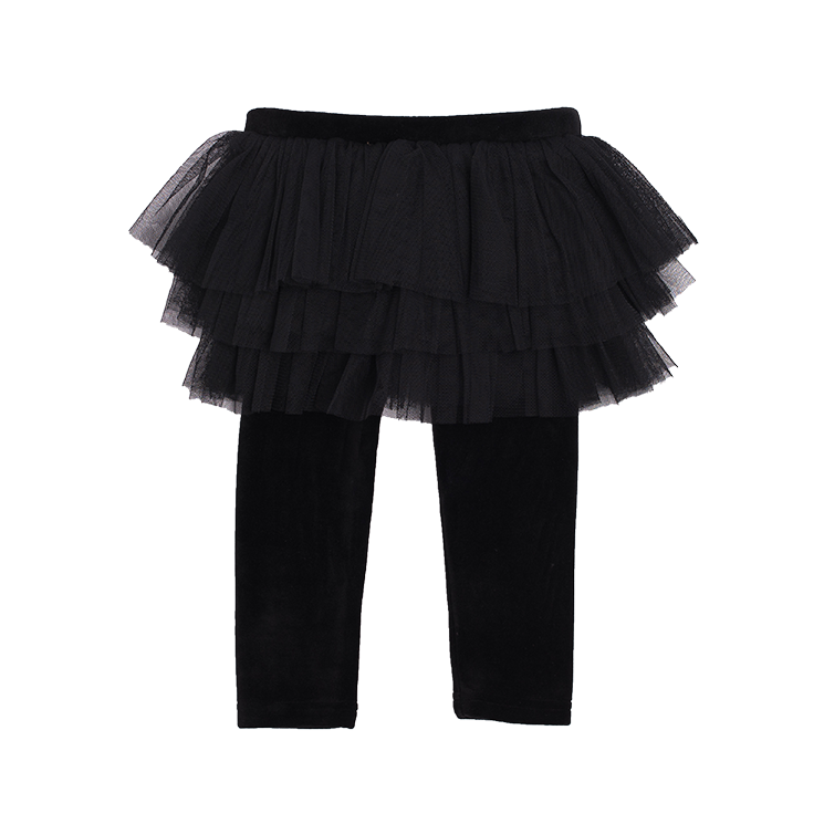 RYB Black Velvet Baby Circus Tights