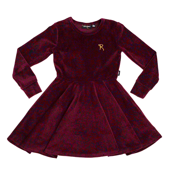 RYB Plum Velvet Waisted Dress
