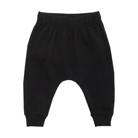RYB Black Baby Drop Crotch Pants