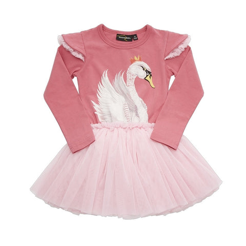 Rock Your Baby Swan Lake Circus Dress - Dark Pink
