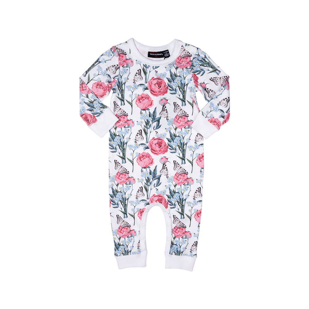 RYB FORGET ME NOT LONG SLEEVE PLAYSUIT