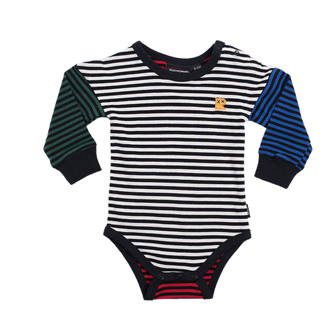 RYB Multi Coloured Stripe Long Sleeve Bodysuit