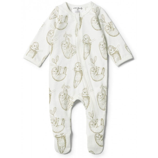 Wilson and Frenchy Baby Sloth Zipsuit