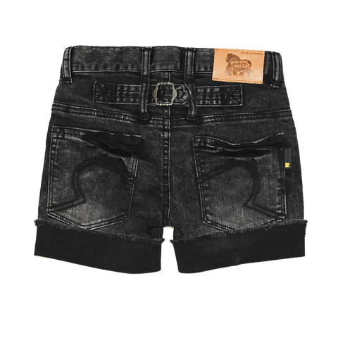 RYB Black Acid Wash Cinch Back Short