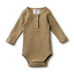 Wilson and Frenchy Olive Rib Bodysuit