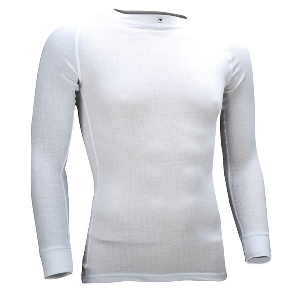 Mens long sleeve thermal top - white