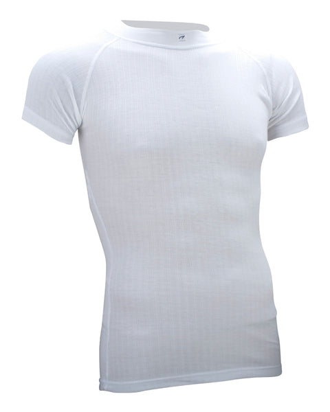 Mens short sleeve thermal top - white