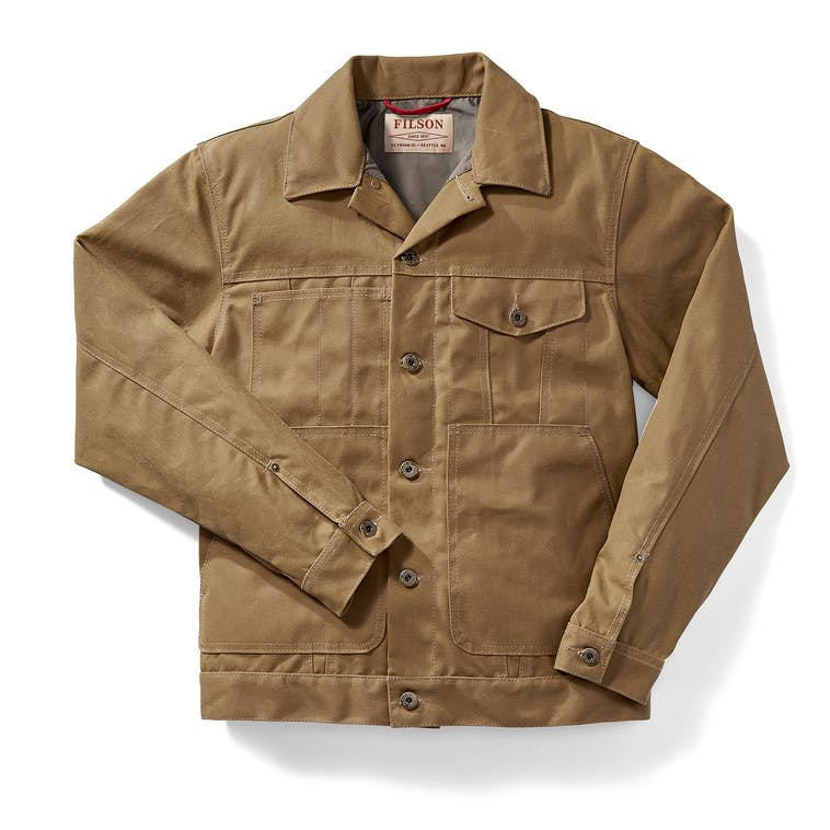 Filson - Tin Cloth Short Lined Cruiser Dark Tan