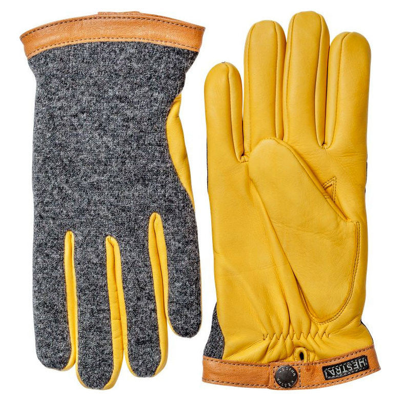 Hestra gloves - 20450 (Charcoal / yellow) - Brund