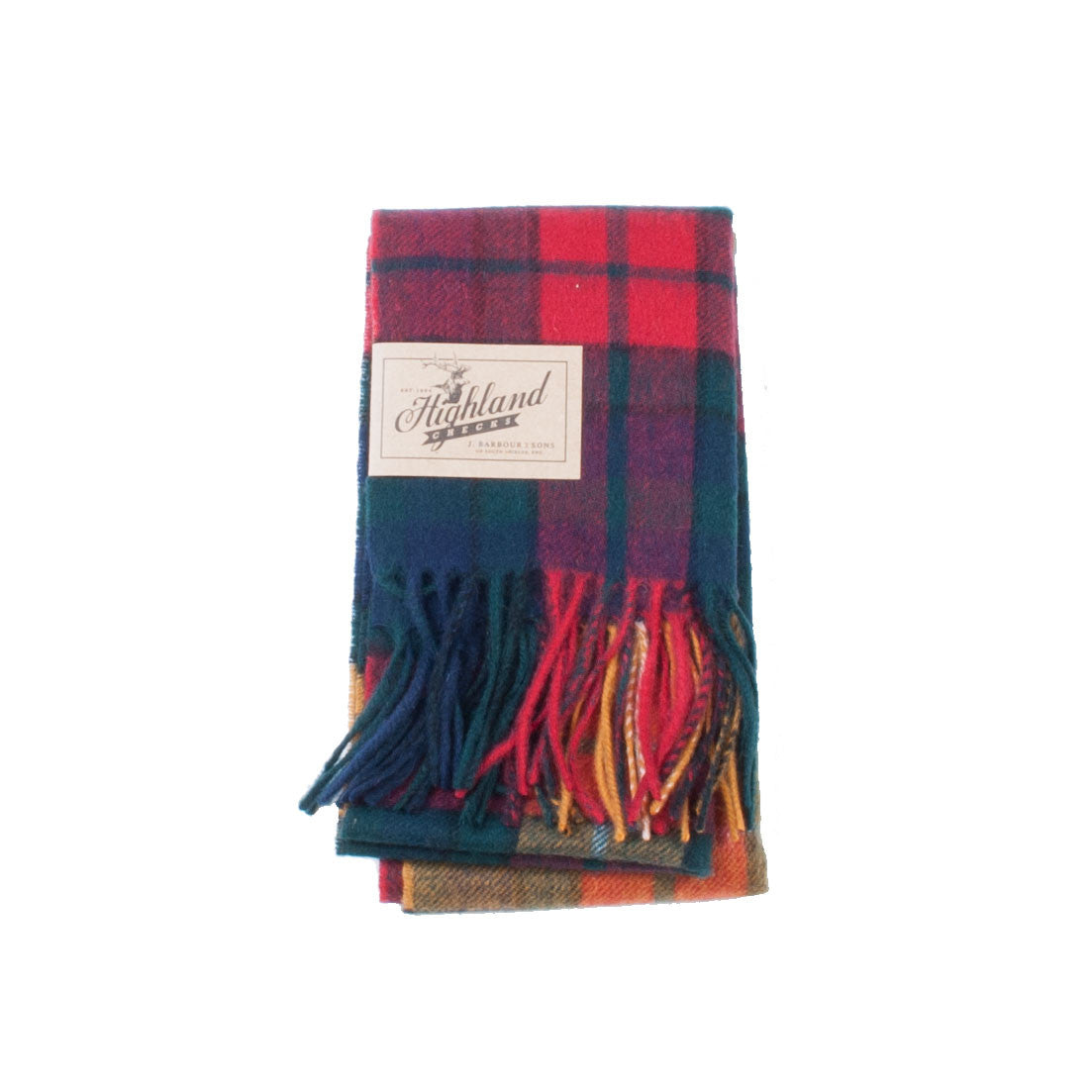 Barbour New Check Tartan Scarff (Red) - Brund