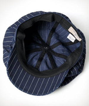 Japan Blue - Casquette Hickory Stripe