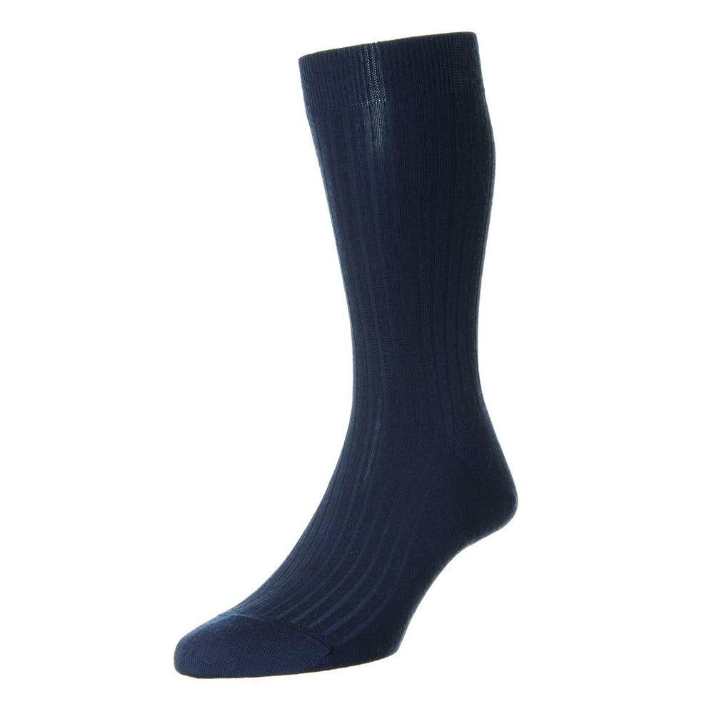 Pantherella - Dark Blue Laburnum wool