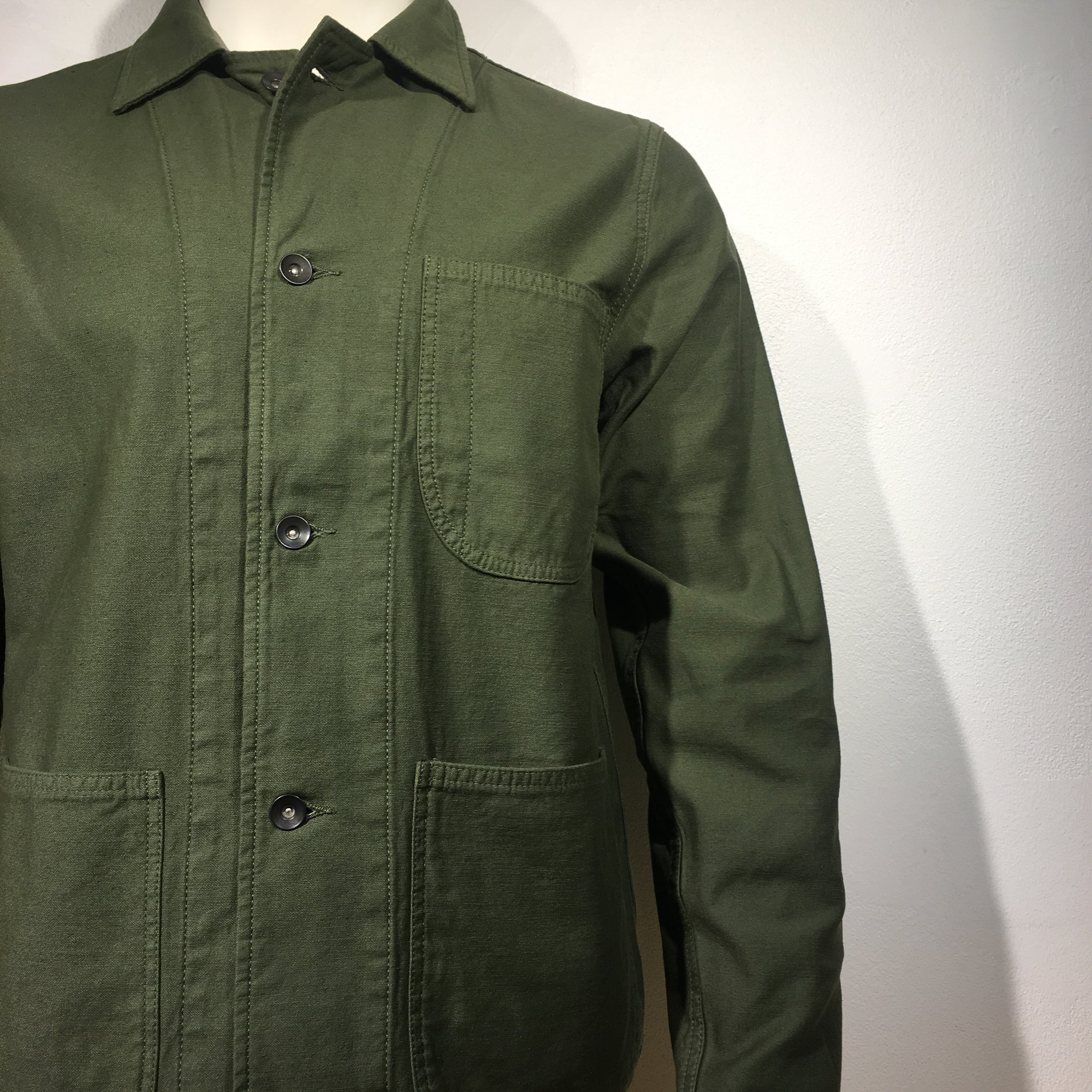 Tellason - Coverall Fatigue Jacket Olive Sateen