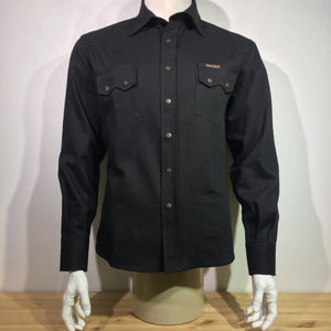 Indigofera - Ryman Black Denim Shirt Japanese Denim