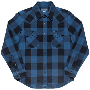 Iron Heart - IHSH-247- Indigo Buffalo Check Western