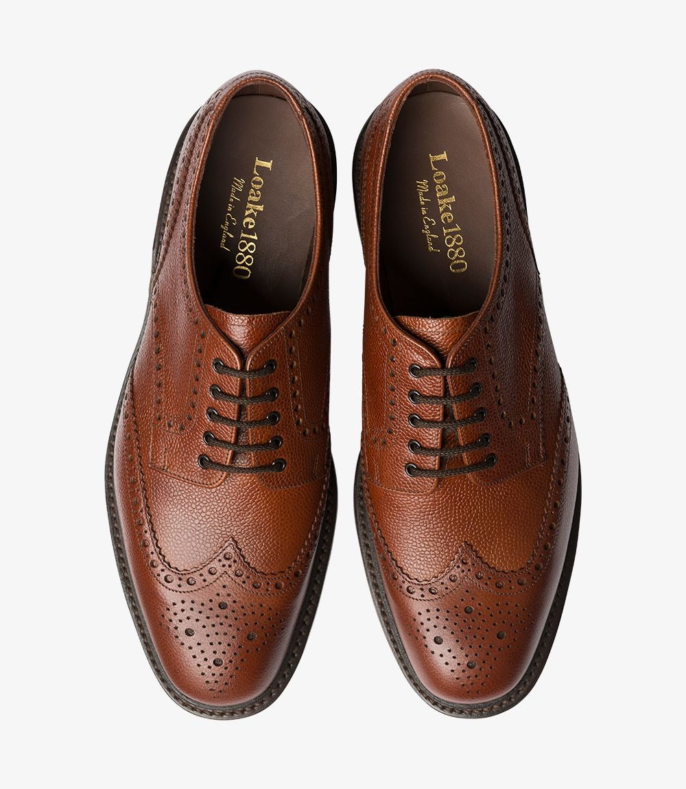 Loake - Badminton Dark Brown Brogue