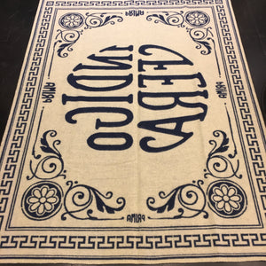 Indigofera - Logo Blanket (Blue-Off-white)