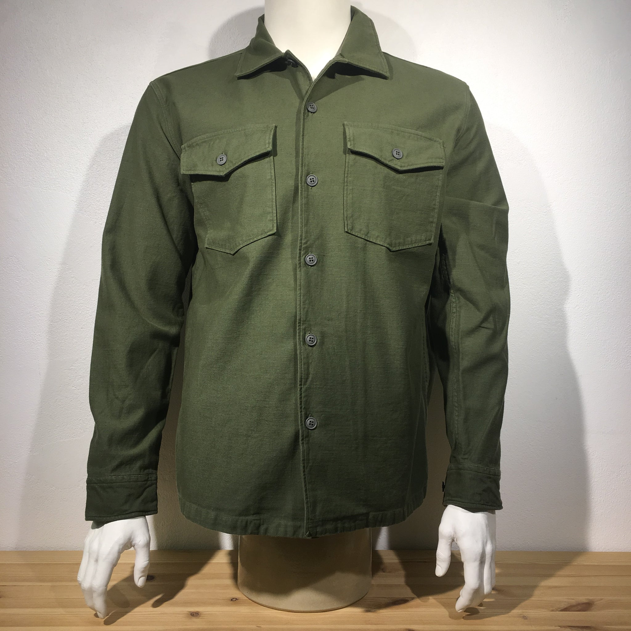 0f2d40e5077 Tellason - Fatigue Shirt Jacket Olive Sateen