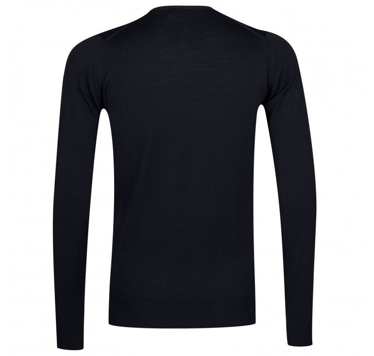John Smedley - Lundy, Crew-neck, Midnight - Brund - 2