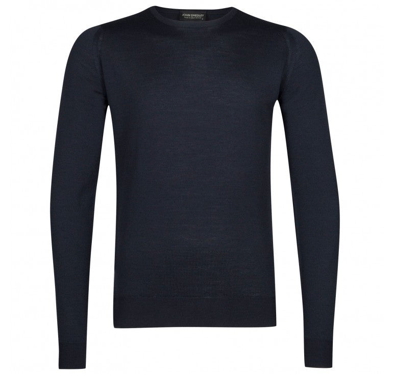 John Smedley - Lundy, Crew-neck, Midnight - Brund - 1