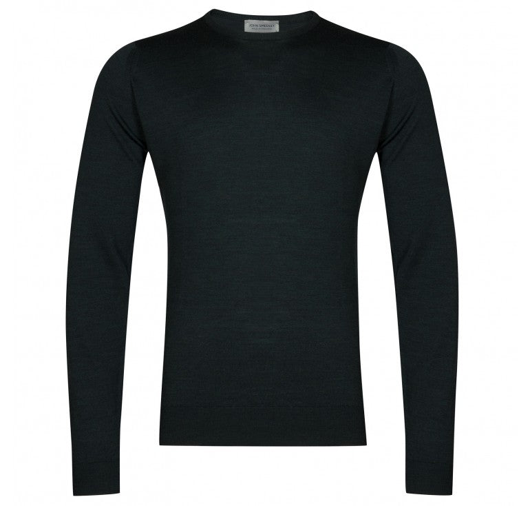 John Smedley - Lundy Racing Green Crew-neck