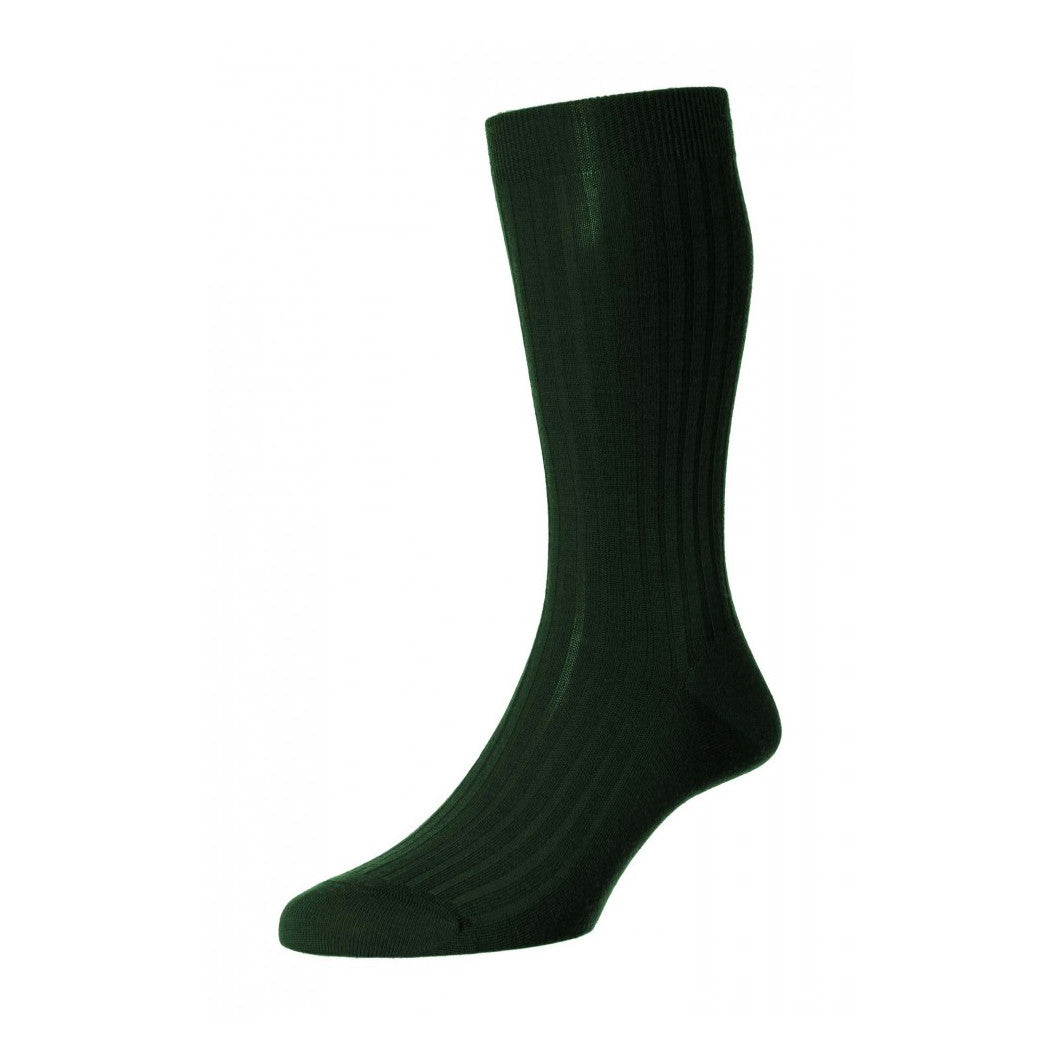 Pantherella - Racing Green Laburnum wool - Brund