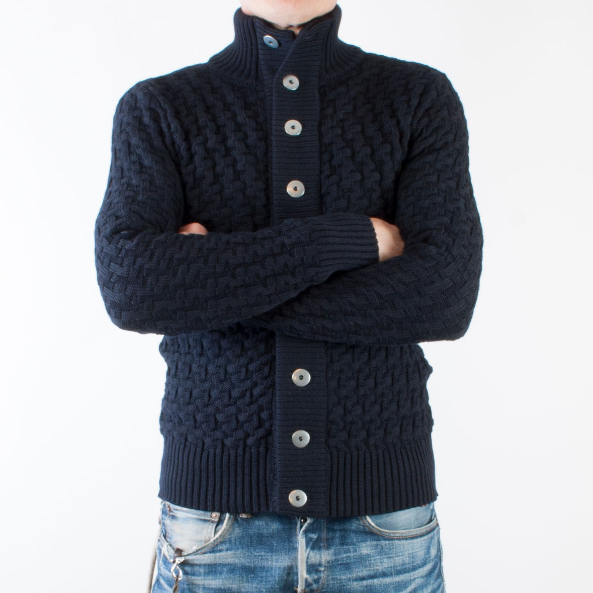 S.N.S. Herning Stark Cardigan (Navy blue) - Brund - 2
