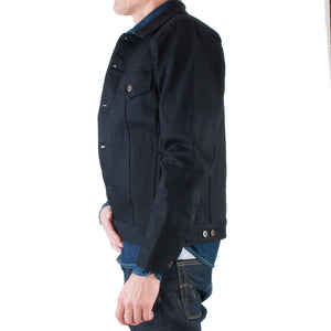 Tellason - Japanese Selvage Denim Jacket, 13.5 oz (Black) - Brund - 5