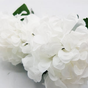 Small Hydrangeas Flowers - 4 Heads - White