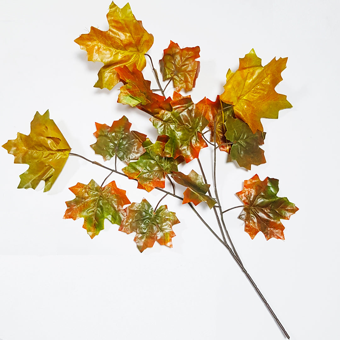 Faux Autumn Maple Leaf Spray