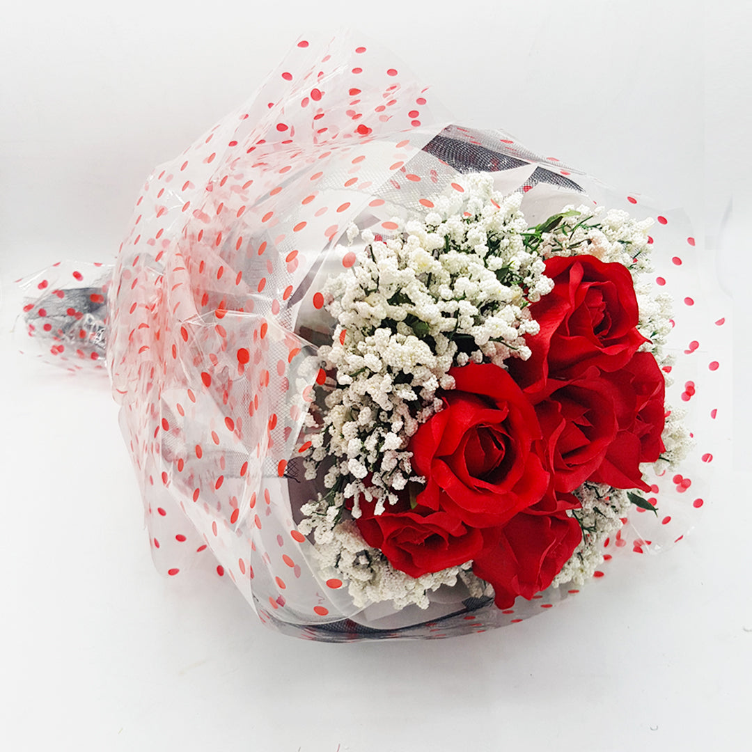 Bouquet of Flowers - Roses and Frost Flowers -Gift