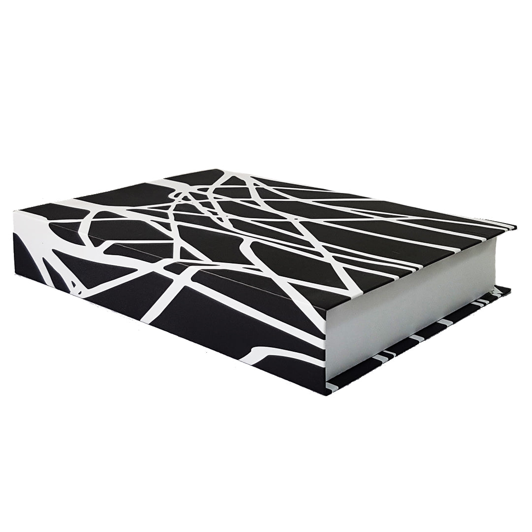 Picture of: Black White Black Coffee Table Book Faux Red Acacia Lagos