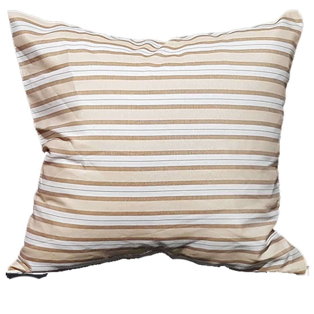 Brown Tones Striped Throw Pillows