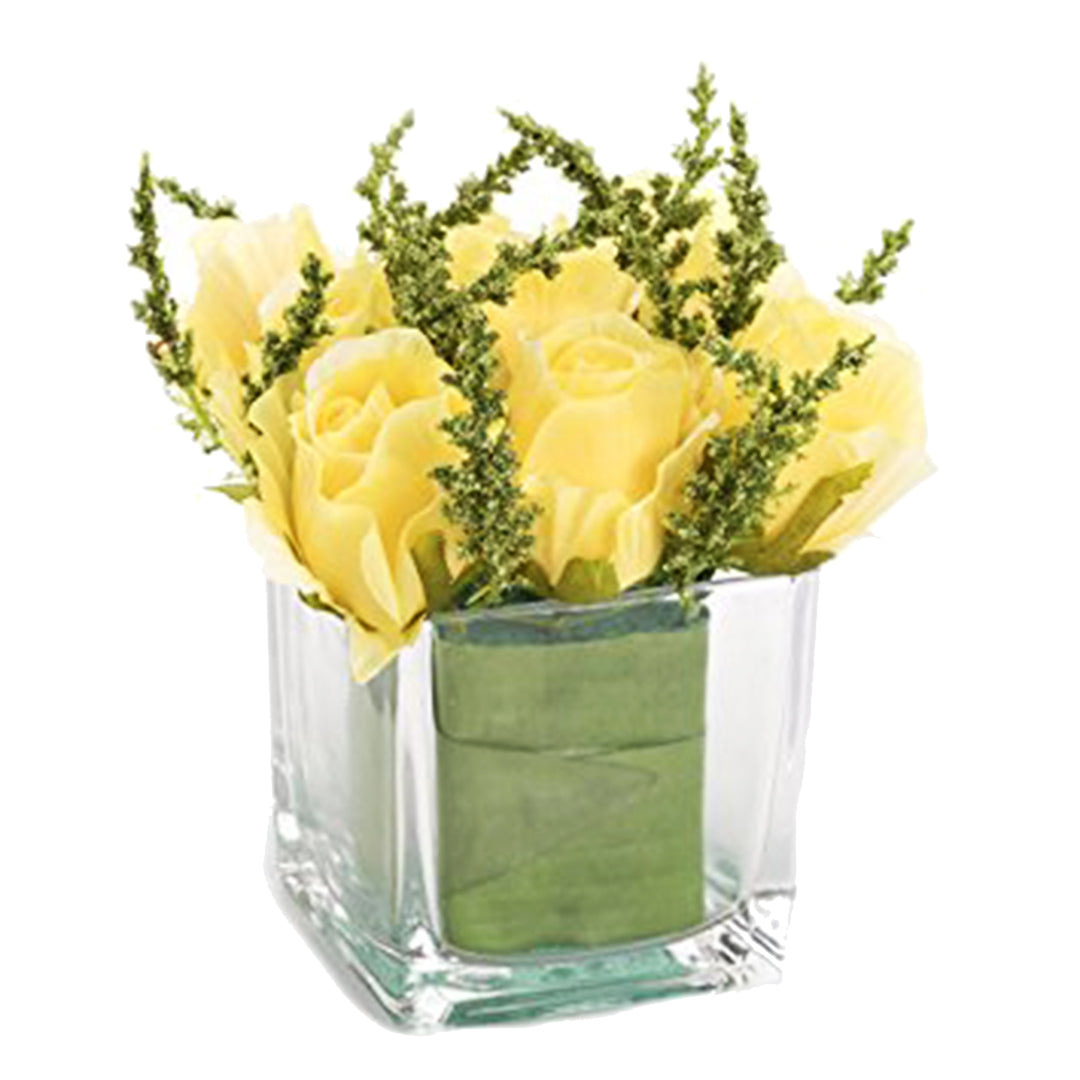 Clear Square Glass Table Vase