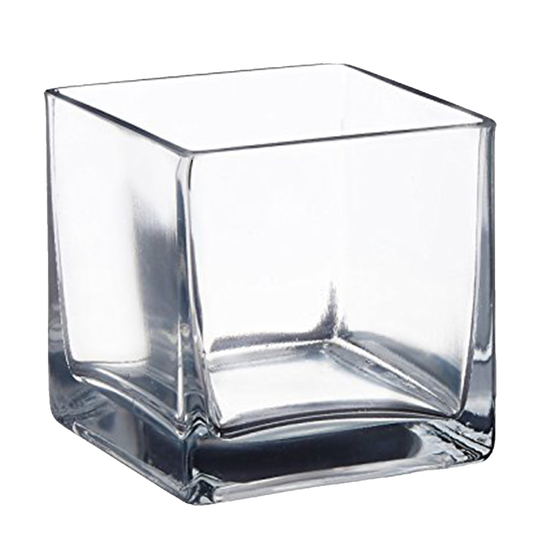 Clear Square Glass Table Vase Red Acacia S Again Bargain Store