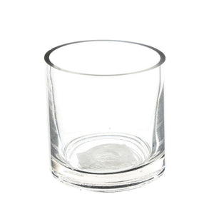 Clear Cylindrical Glass Table Vase - 10cm