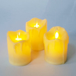 Set of 3 Flameless Candles