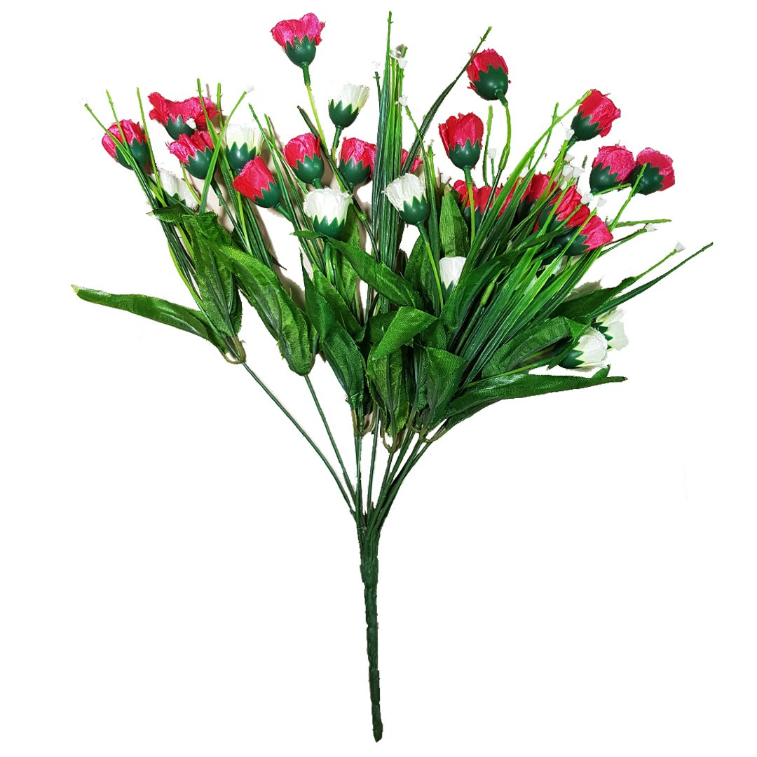 Small Tulips Fuchsia Pink And White Flower Bunch Red Acacias